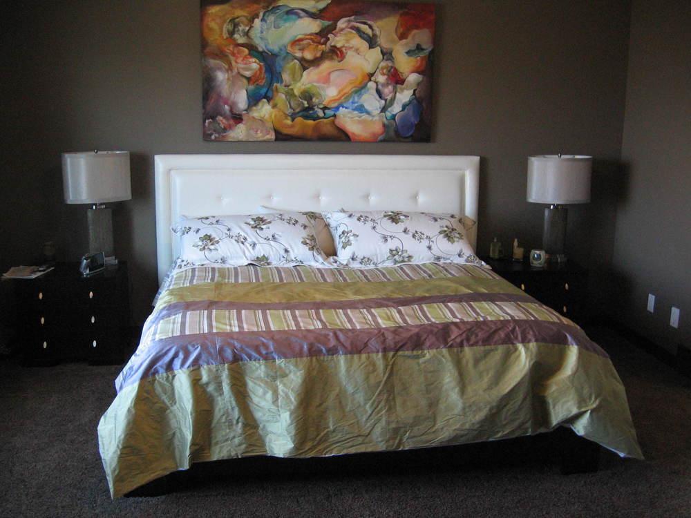 Interior Design Calgary Master Bedroom Custom Headboard