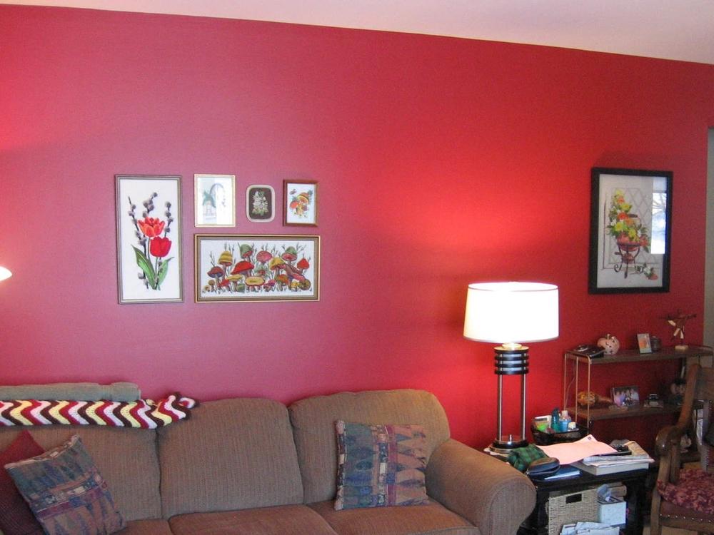 Interior Design Calgary Red Living Room