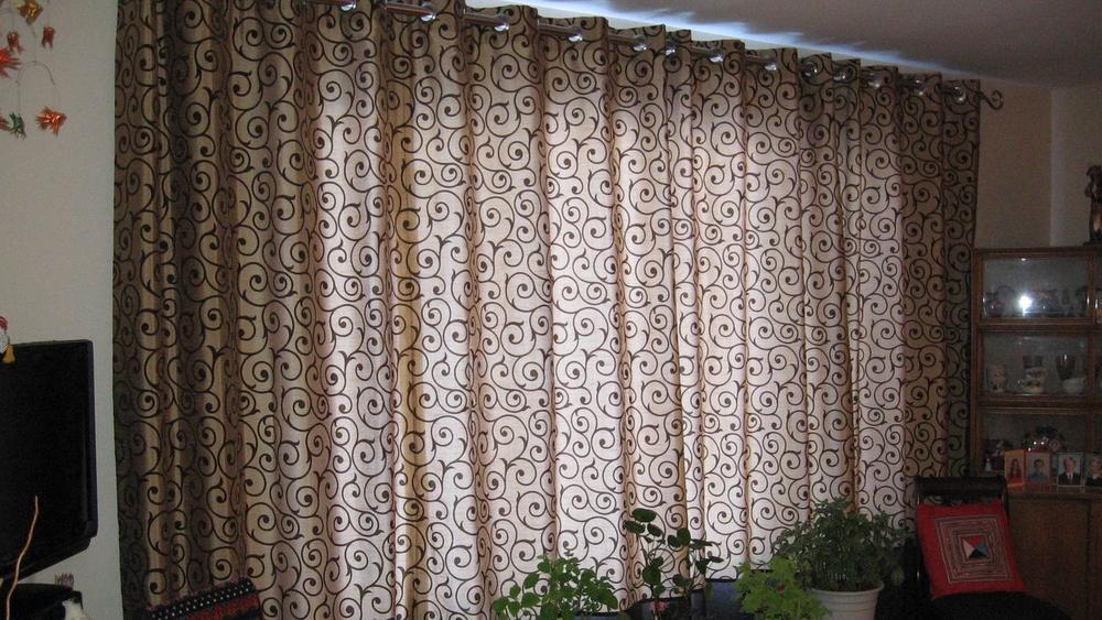 Interior Design Calgary Living Room Custom Scroll Drapery