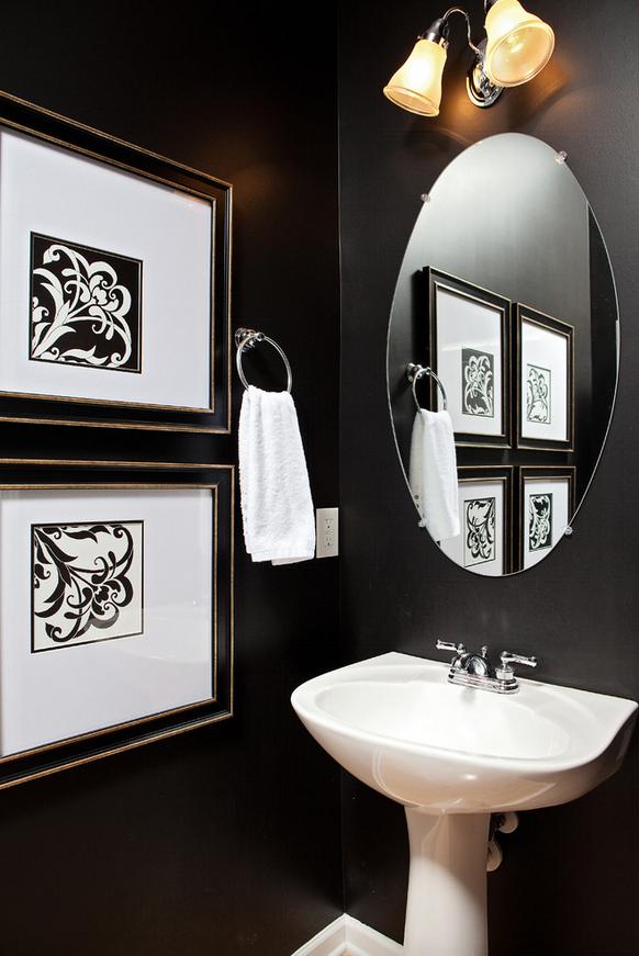 Interior Design Calgary, Home Decor & House Plans | Powder Room Art | Dutch Touch Interiors