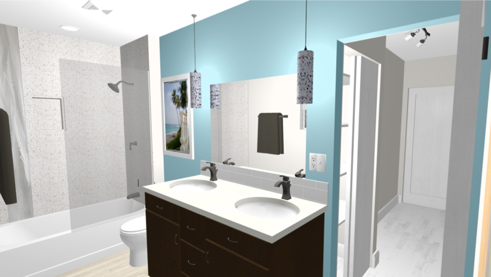 Interior Design Calgary, Home Decor & House Plans | Bathroom Design Rendering | Dutch Touch Interiors
