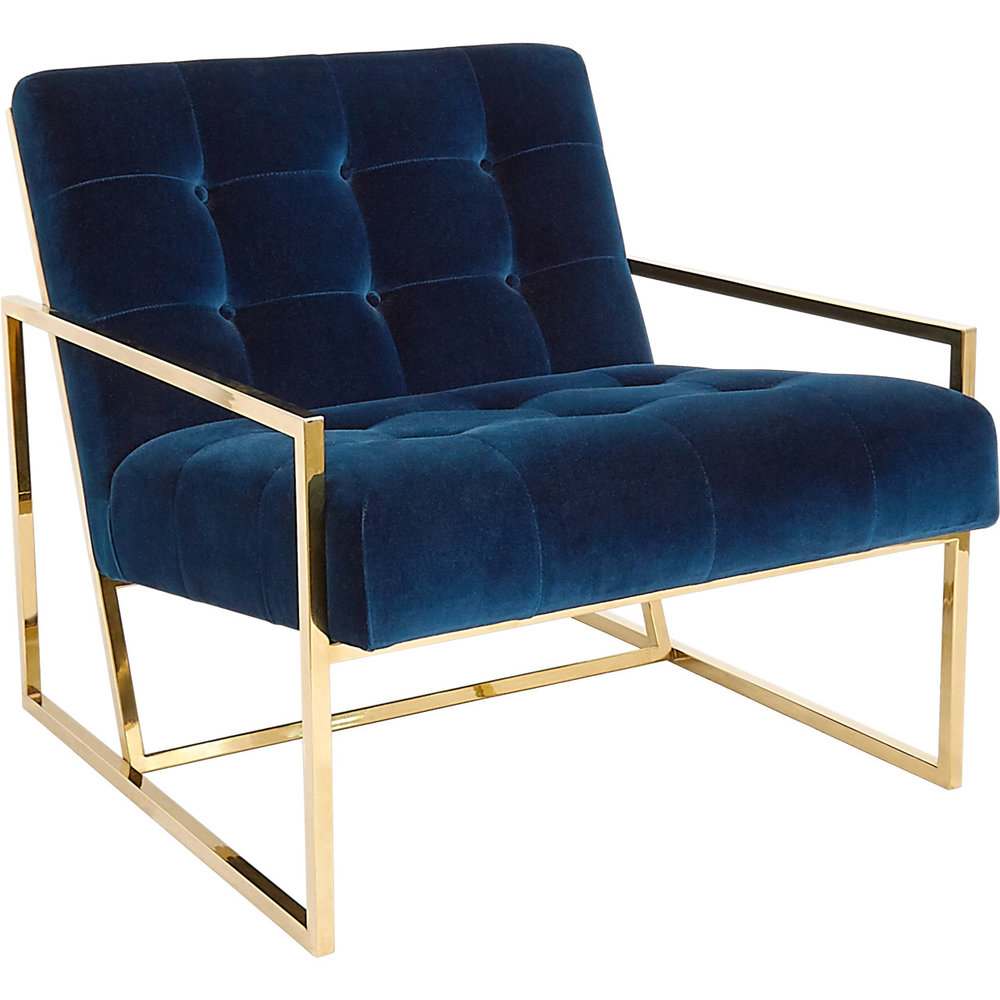This is the chair that started it all!  I saw this and went, 'Omgoodness I LOVE it!'  Designed by Jonathan Adler, this beaut would look stunning in a room swimming with sunlight!