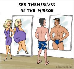 How men and women see themselves in the mirror | Dutch Touch Interiors
