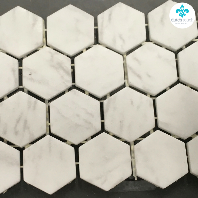Interior Design Calgary, Home Decor & House Plans | Hexagonal Mosaic Accent Tile | Dutch Touch Interiors