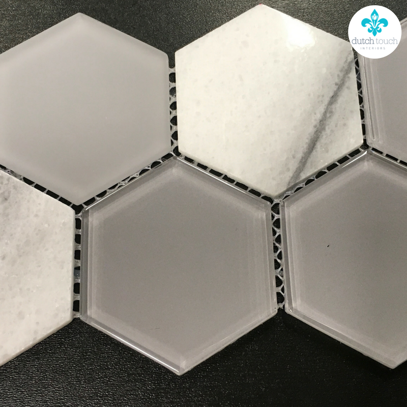 Interior Design Calgary, Home Decor & House Plans | Glass Hexagonal Accent Tile | Dutch Touch Interiors