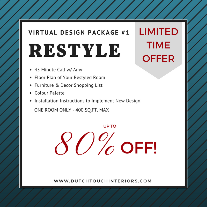 Professional Services at 80% Off! - Stuck as to how you can create a home you love?  Still working on that one room, 3 years after you moved in?  Click here now* to get access to this amazing designer deal, saving you literally THOUSANDS OF DOLLARS!!!But hurry!  It's only available until December 15, 2017!!*Sign up via the DTI Monthly News to receive this promo.
