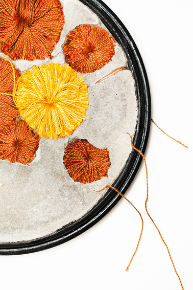 'Autumnal Hoops' created by Bethany Walker