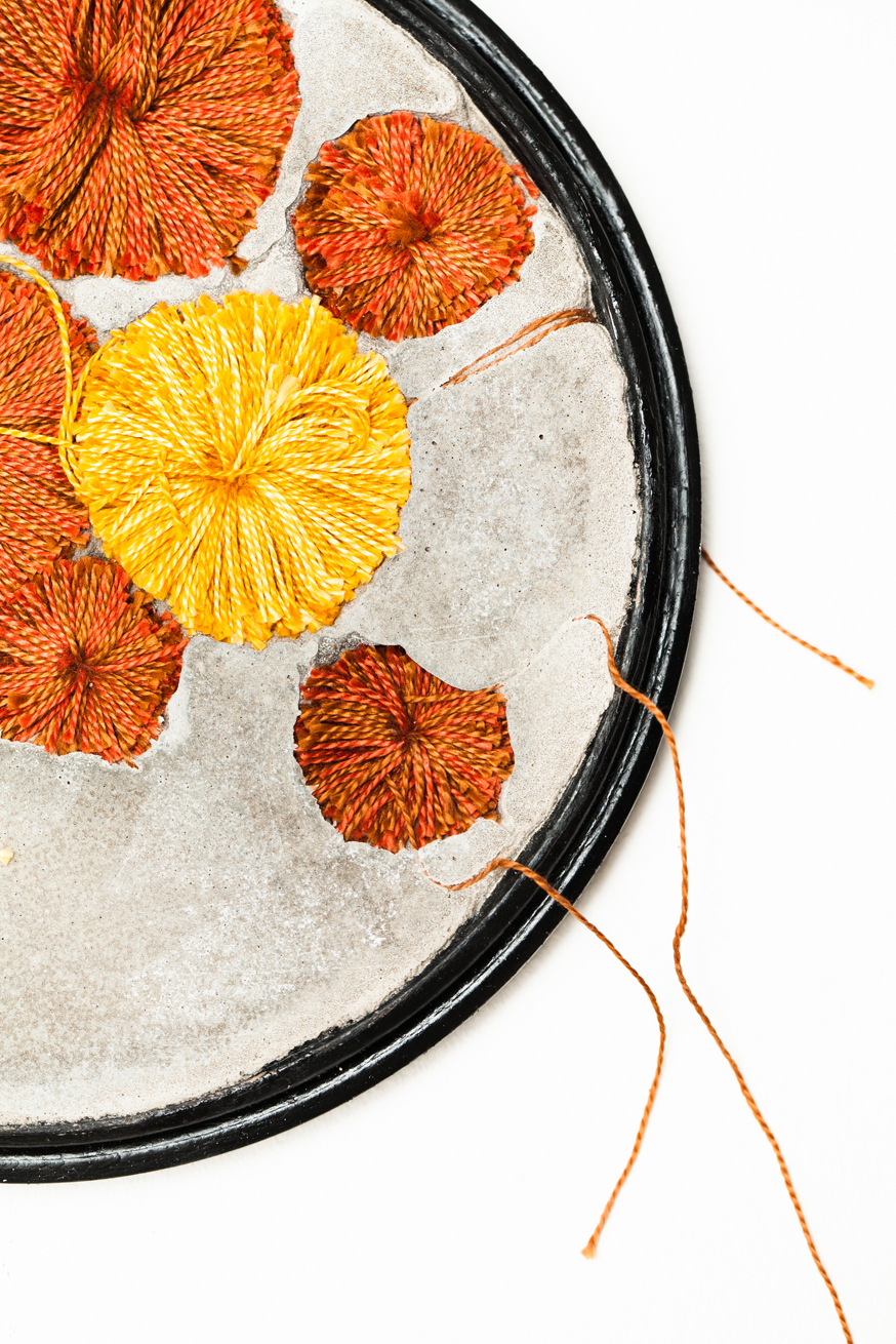 'Autumnal Hoops' (detail) created by Bethany Walker, 2013