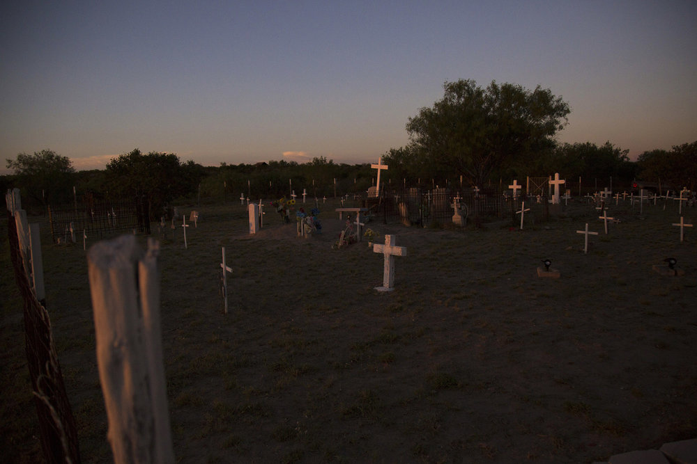 Mauricio Vidaurri owns land near San Ygnacio, Texas that has been in his family for 266 years. One part of that land is a family cemetery of six generations.