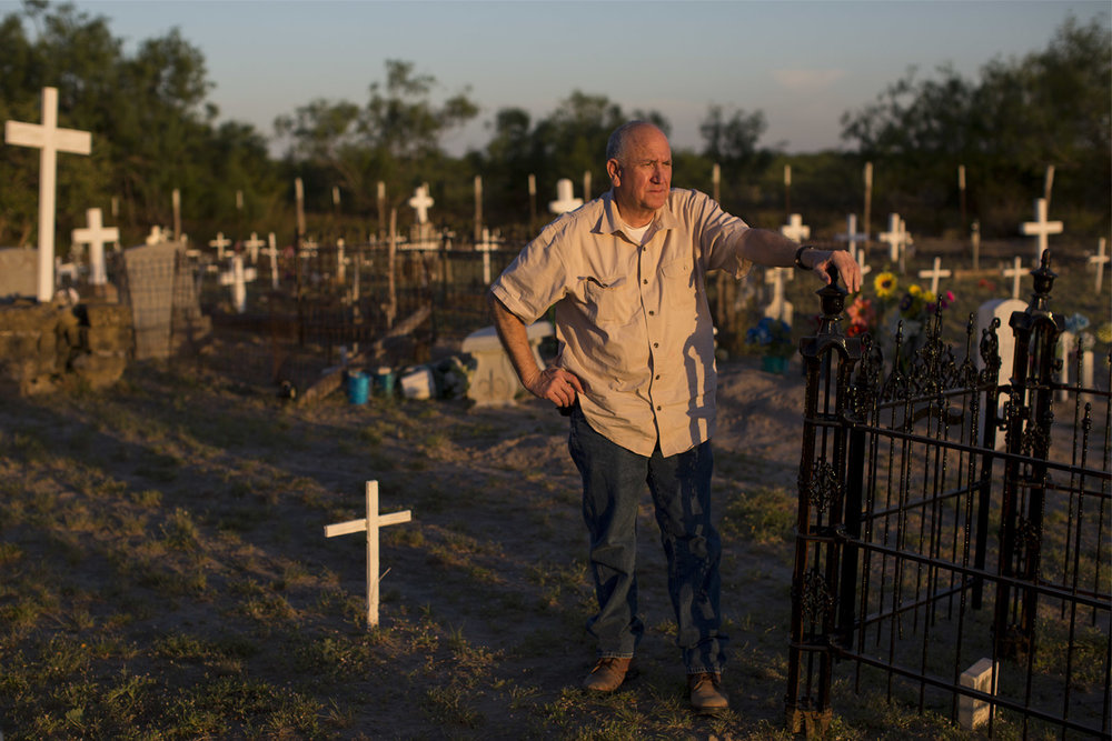 """If anything was to happen, I would feel ashamed because I failed,"" Mauricio Vidaurri said of potentially losing the land to a border wall. ""266 years and I don't want it to come on me or my brothers and sisters that we failed. We have to show people what's out here. People lived here. They sacrificed. They worked. They died here."""