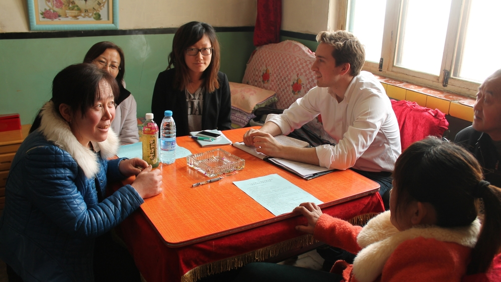 Conducting user interviews with microloan borrowers in Yanchi County, Ningxia Autonomous Region, China