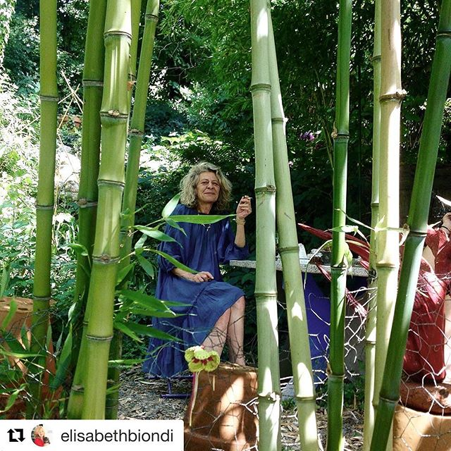 Thank you to Mentor  @elisabethbiondi who gifts us with her incisive inquisitive charm and extraordinaire story telling editing skills for this 3nd edition of @photomasterretreat ・・・ Lunch with la martine at eccentric restaurant in a magical garden not far from #tpmr2017 #martinefougeron . . . #southoffrance #thephotographymasterretreat #frenchcountryside #photomasters #artistworkshop #photographyretreat #Summerworkshop #bastideesparon #airbnb #photomasterretreat #photoworkshop #photography #TPMR #recontresarles #tpmr2017