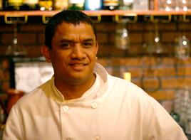 Proprietors Chef Oswaldo Bibiano andEvelia Nino Medrano