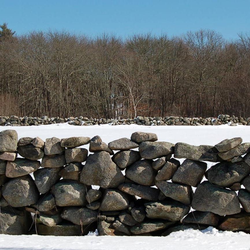 Landscape architecture, dry stone walls, Concord, MA