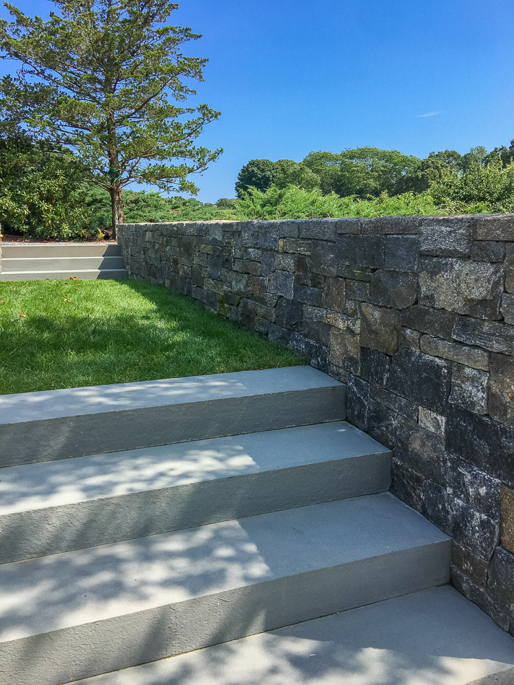 Bluestone Steps and Granite Wall