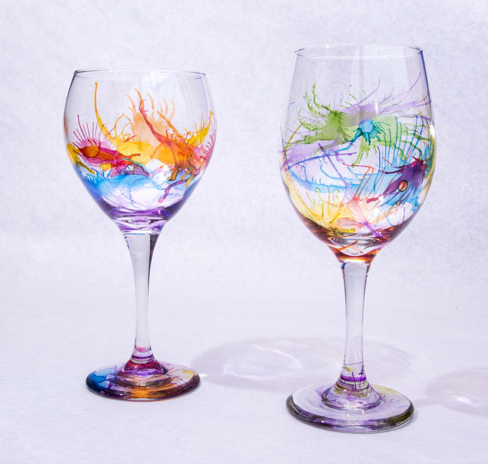 Art self expressions Images of painted wine glasses