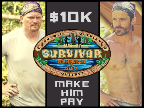 SURVIVOR$10K Challenge: - Donate below to join the tribe and make Survivor Contestant, Chris Hammons, pay!