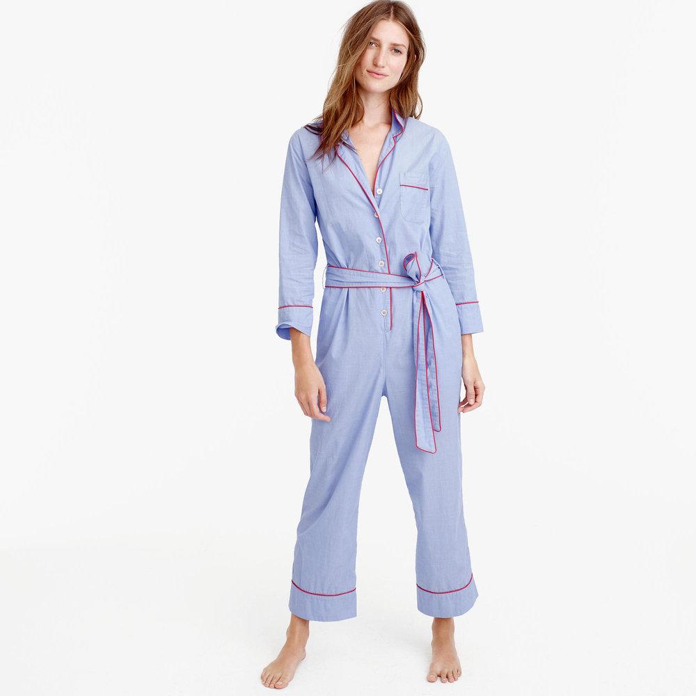 J.Crew Tipped Pajama Jumpsuit