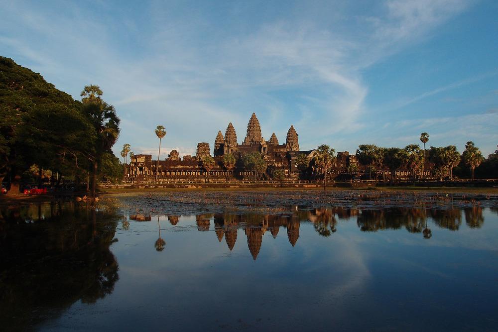 Angkor Wat during sunset