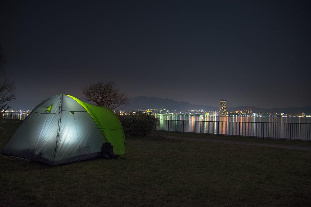 Freedom camping near Kyoto