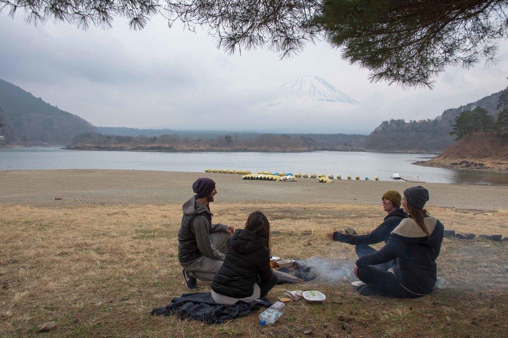 Campfire at Fuji-san
