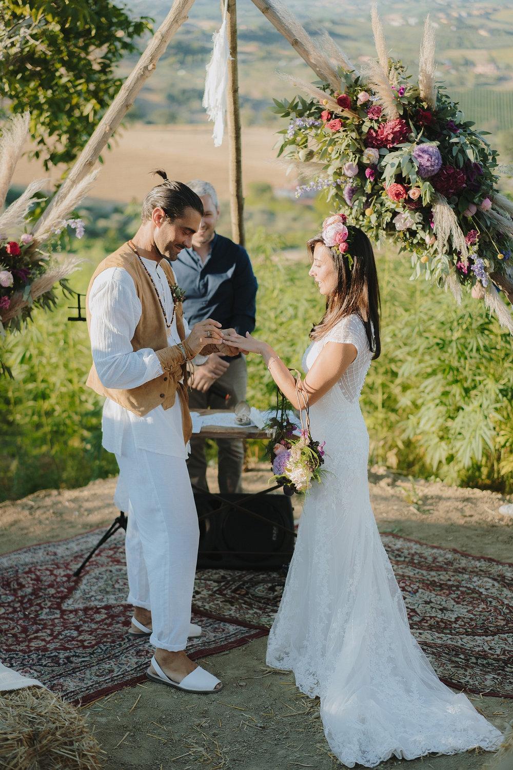 Gipsy Wedding in a Hemp Field