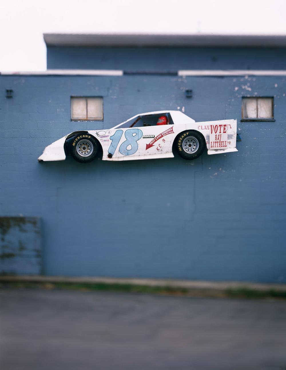 Car on Wall