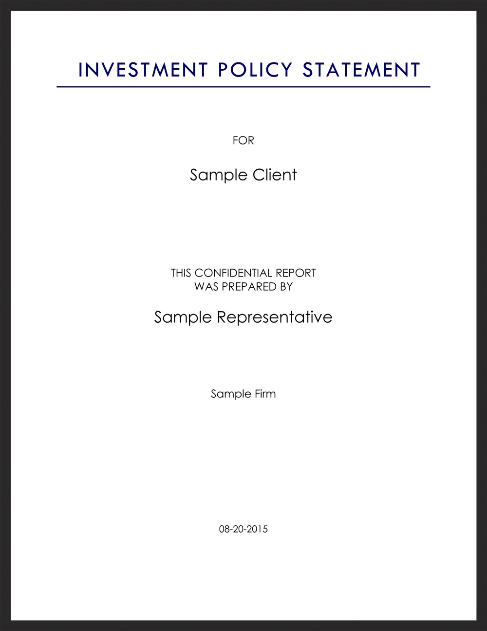 Saratogasharp investment management proposal saratoga capital sample investment policy statement coverg altavistaventures
