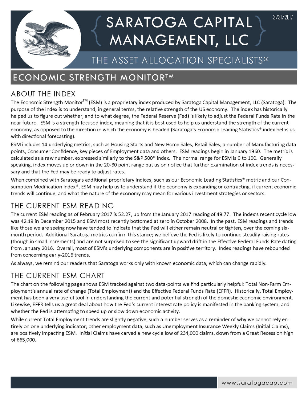 Click to View the Current ESM Fact Sheet