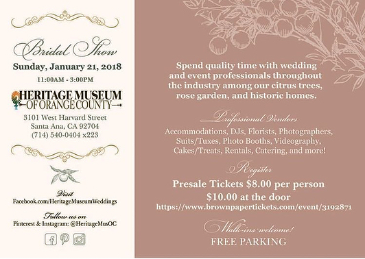 So excited for tomorrow! We will be setup at the @heritagemusoc Bridal Show from 11am-3pm. Stop by for some photos, food, drinks & fun! #heritagemuseum #cheerstoyouphotobooth #countrygardencaterers #blissfuleventsbydiana
