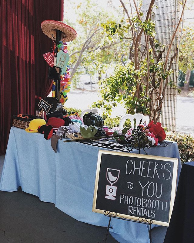 Be our guest! Grab a prop 🤡 #cheerstoyouphotobooth