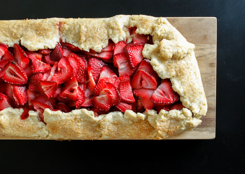Vegan Strawberry Galette