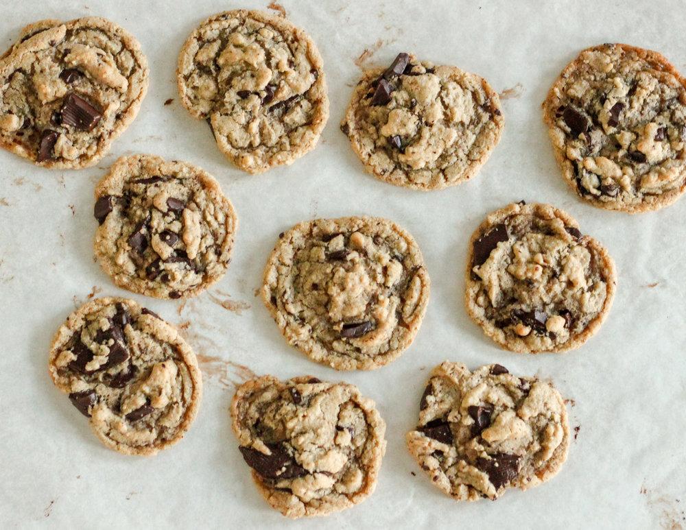 THE BEST Vegan Gluten Free Chocolate Chip Cookies
