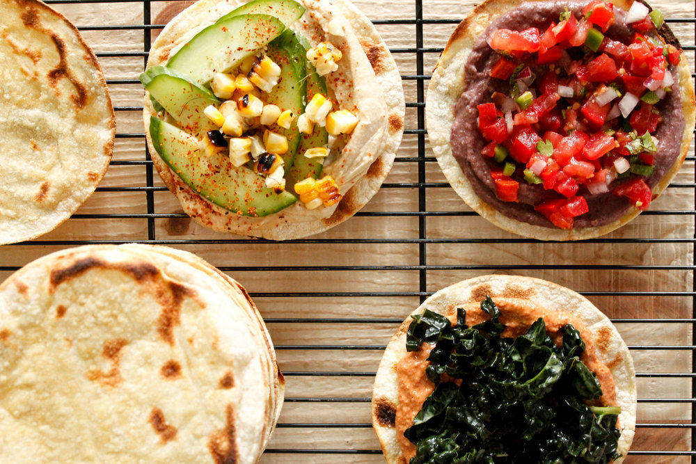 Vegan Tostadas 3 Ways