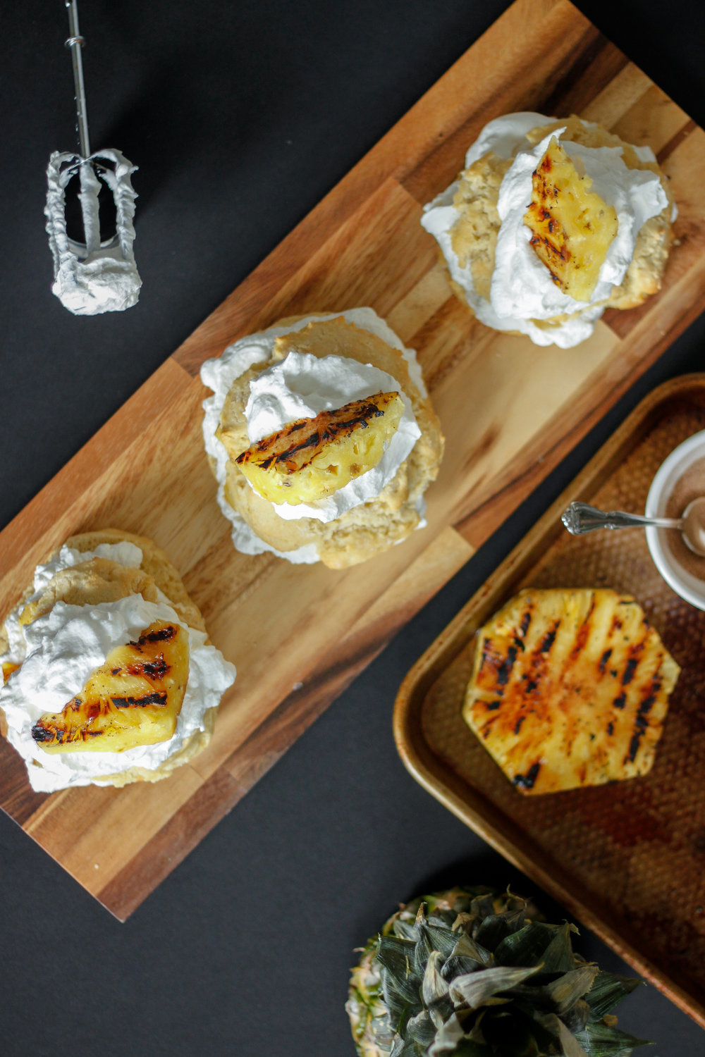 Grilled Pineapple Shortcakes