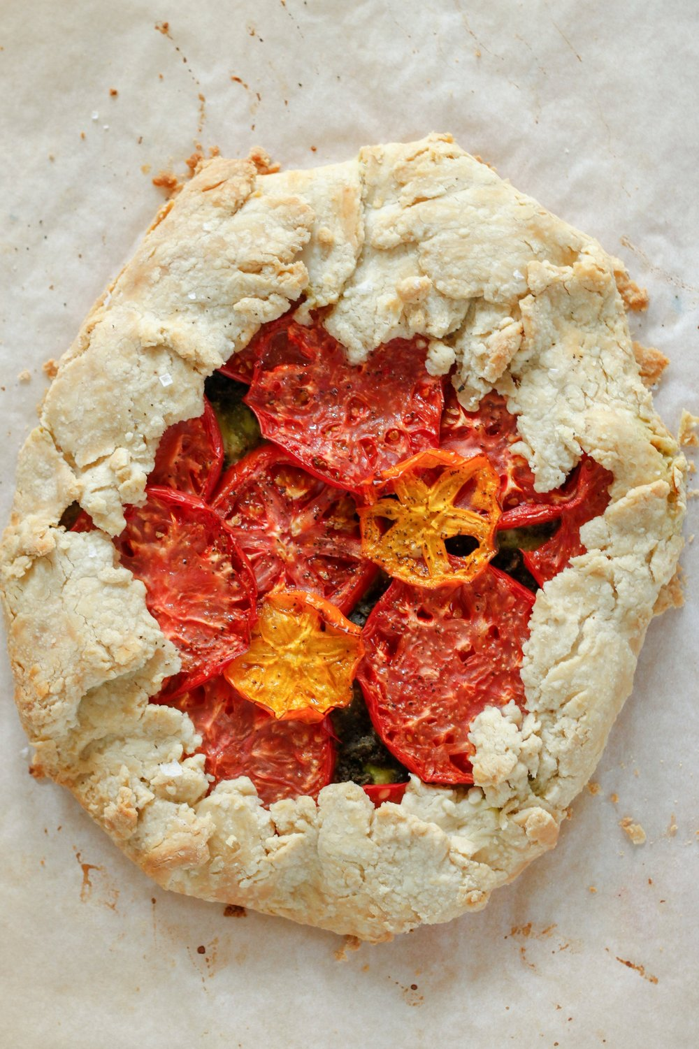 Vegan Heirloom Tomato Tart