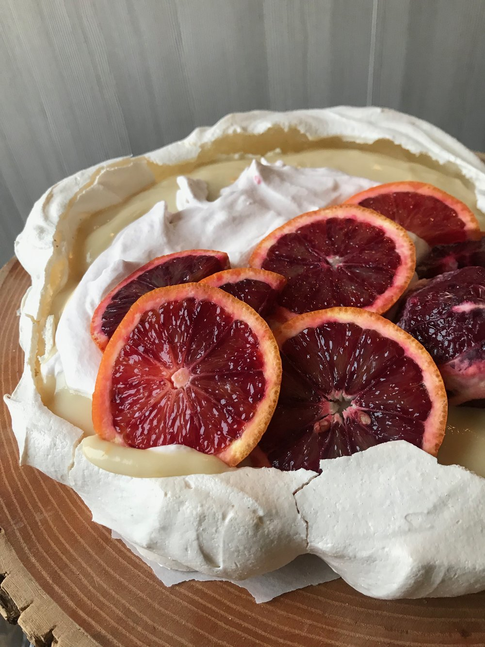 Blood Orange Pavlova