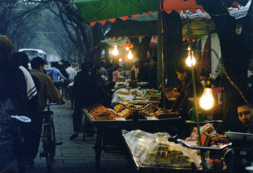 Market in Xi'an, 1999 Xi'an China by Frank Volpi