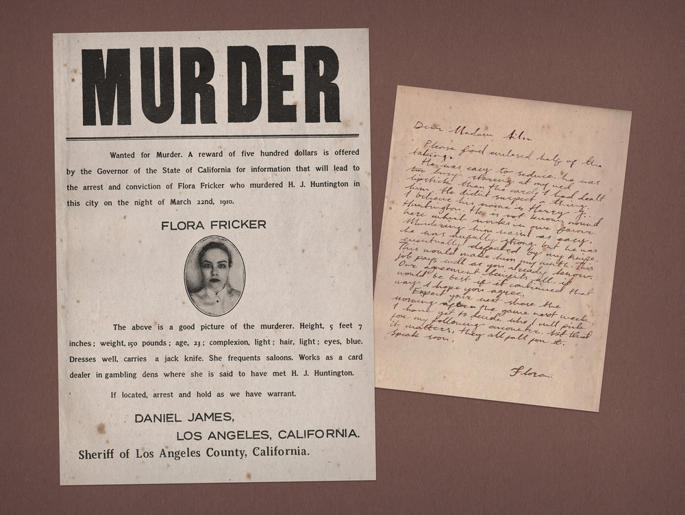 Flora Fricker, Card Dealer: Wanted Poster, Letter to Ailsa