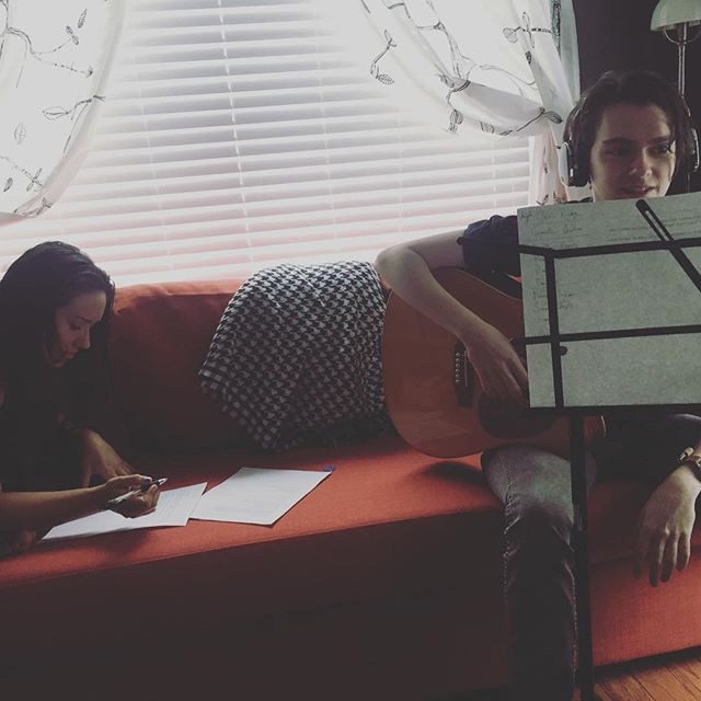 Flash back to last week. Studio day with @kiraviv and @go_for_bloke ! Btw, go check out Kira's kickstarter and help her out! https://www.kickstarter.com/projects/1626753462/my-debut-album-convinced-anyway?ref=discovery