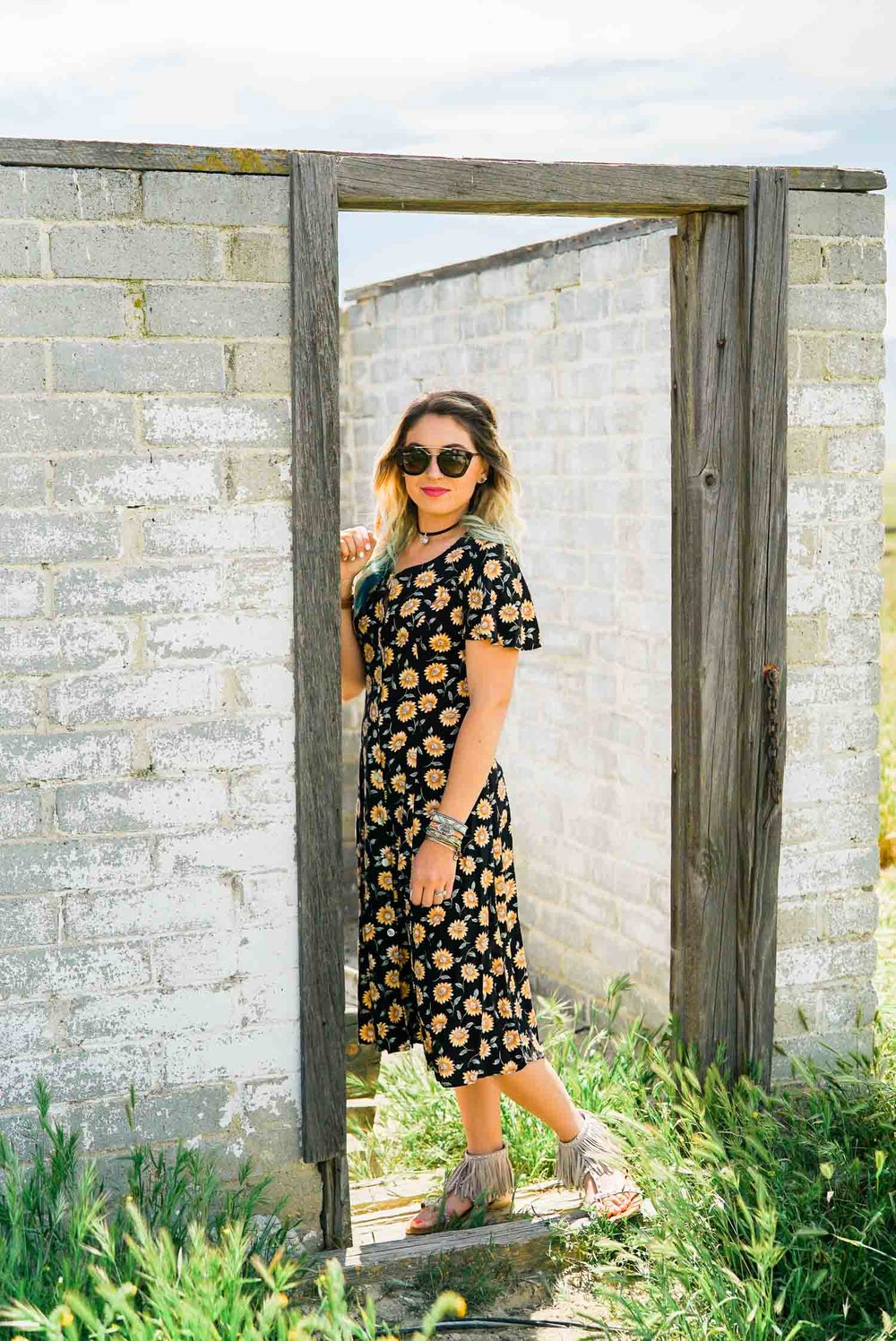 Thrifted Floral Print Dress-6.jpg