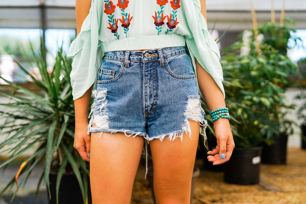 vintage denim cut off shorts-5.jpg