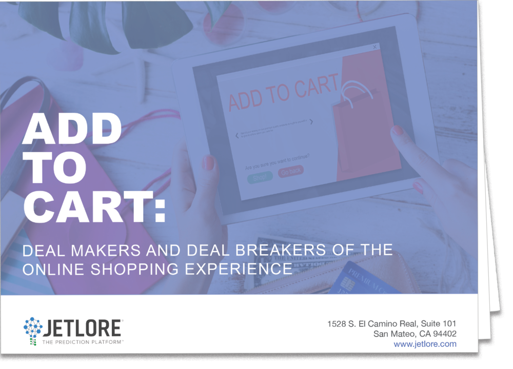 "Lack of personalization, irrelevant product recommendations and other online shopping deal breakers prompt nearly 70% of online shoppers to abandon the shopping experience. The report, ""Add to Cart: The Dealmakers and Dealbreakers of the Online Shopping Experience"" reveals the steep challenges online retailers face in today's ultra competitive e-commerce arena."