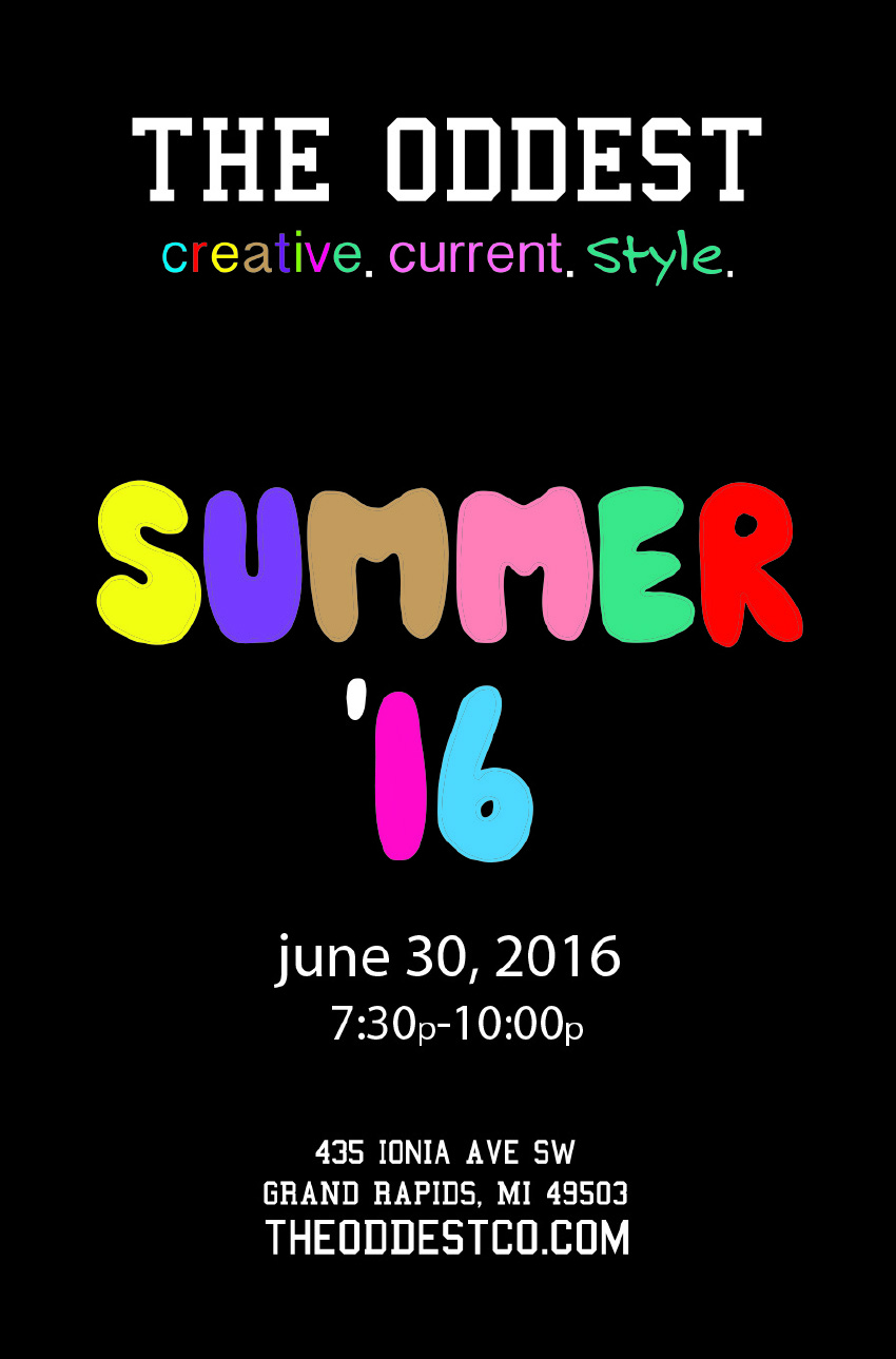 Summer '16 Official Release Party - June 30, 2016 - 7:30p-10p in The Greenhouse at The Downtown Market