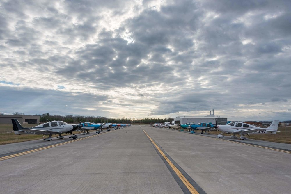 Cirrus Row at the Vision Center Flightline