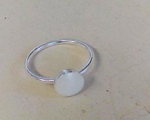 Sara Zinn Photography Sterling Silver Circle Ring Breastmilk Jewelry