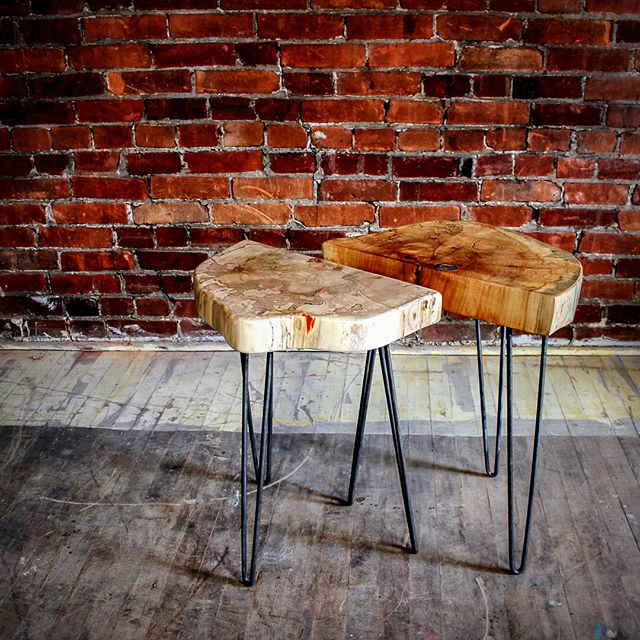 Some Afters and Before shots. This was a maple we cut down about two years ago. Do you think it was worth the wait? . . . #reclaimedwood #reclaimedfurniture #madeinkc #furnituredesign  #kcmo  #igkansascity  #westbottoms  #interiordesign  #shoplocal  #shopkc  #handmade  #reclaimedwoodtable #design  #industrialdesign #bisondesignco  #table  #instadesign  #instadecor  #houzz  #furniture  #woodworking  #apartmenttherapy  #igkc  #uo  #uohome  #designsponge