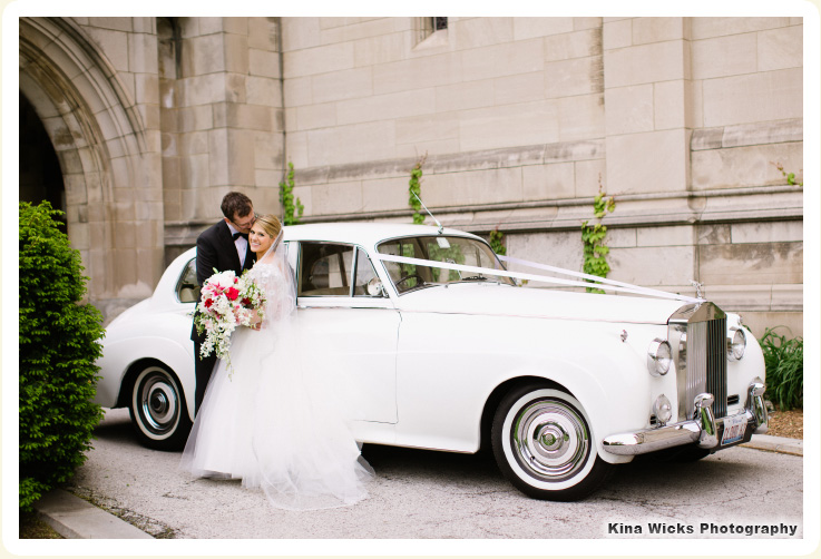 Classic Wedding Car Chicago Sarah Mandel