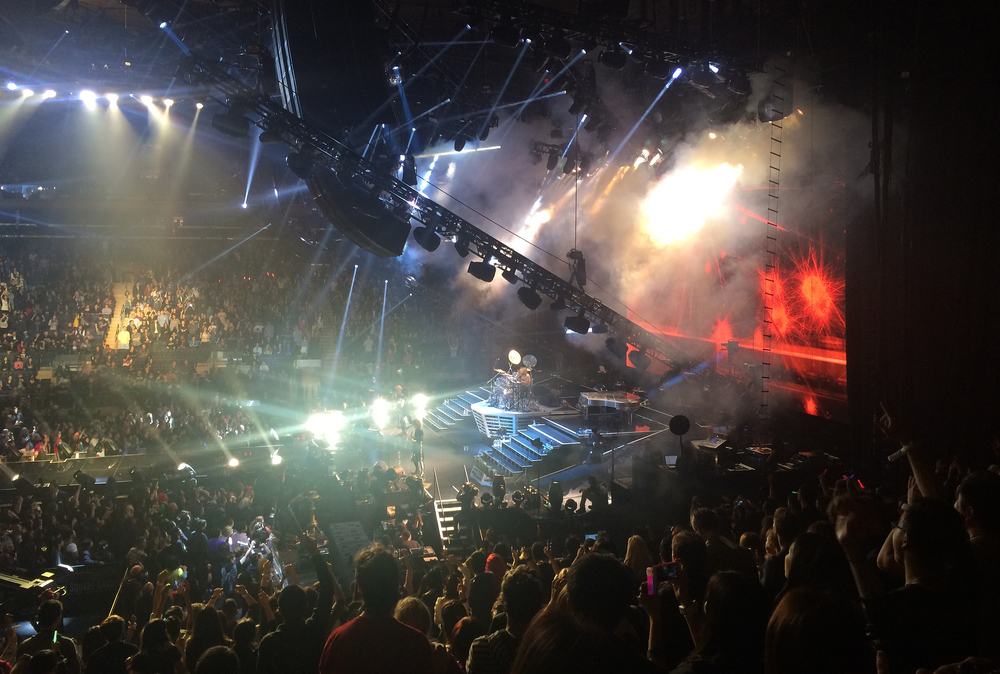X Japan in concert at Madison Square Garden on Saturday night, 10.11.2014