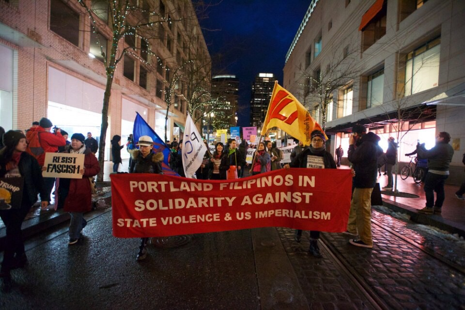 Portland Filipinos and allies in solidarity against state violence & US imperialism. Resistance against fascism.
